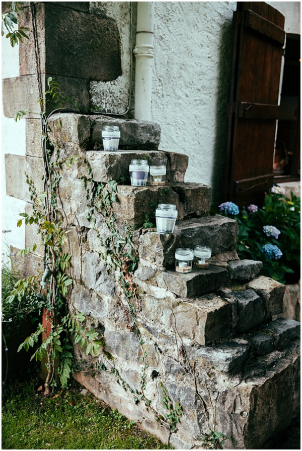 decorating rustic steps