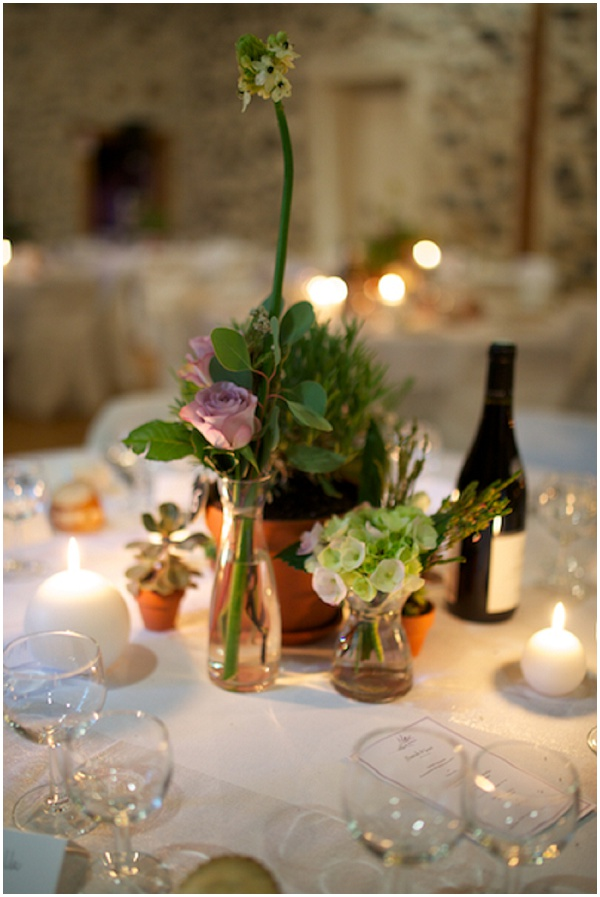living plants wedding tables