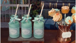 mint dessert table