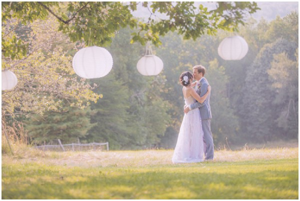 paper lantern rustic outdoor wedding decor