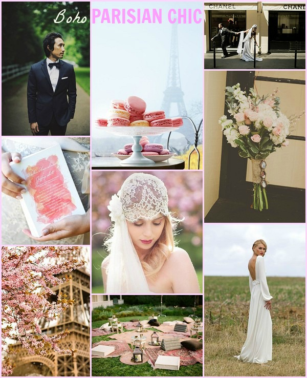 parisian chic wedding theme