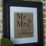 personalised burlap print