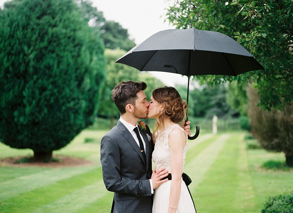 rainy wedding day
