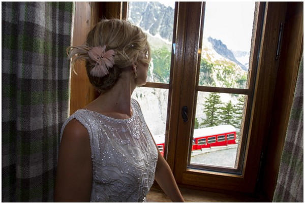 red cog train wedding