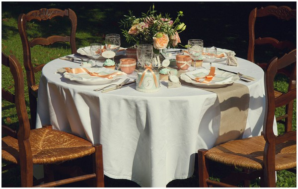 rustic garden wedding table