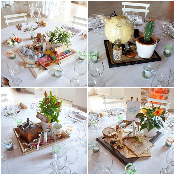 vintage style tablecentres