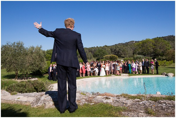 wedding by swimming pool
