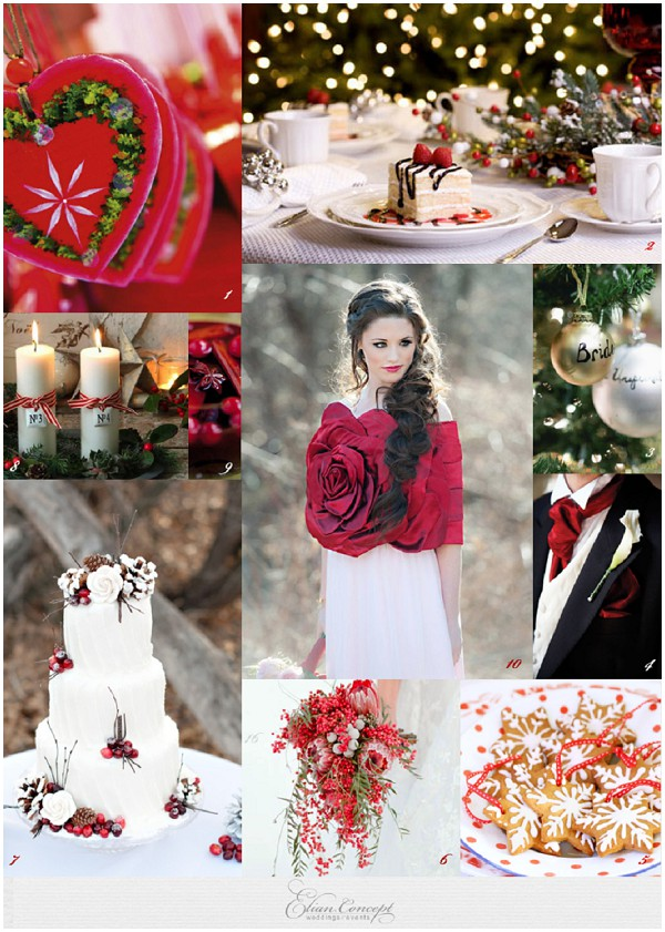 Christmas wedding-inspiration board