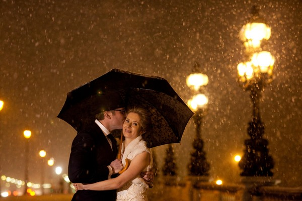 Paris winter wedding