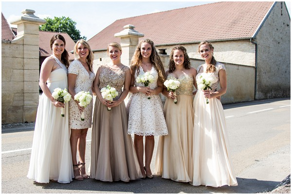 New wedding dresses for young: Burgundy and champagne bridesmaid ...