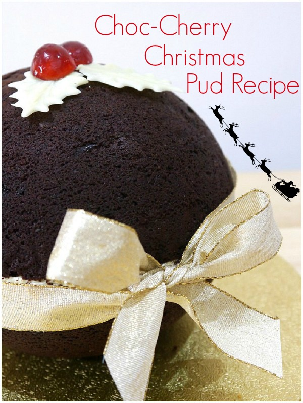 christmas cake recipe choc-cherry cake