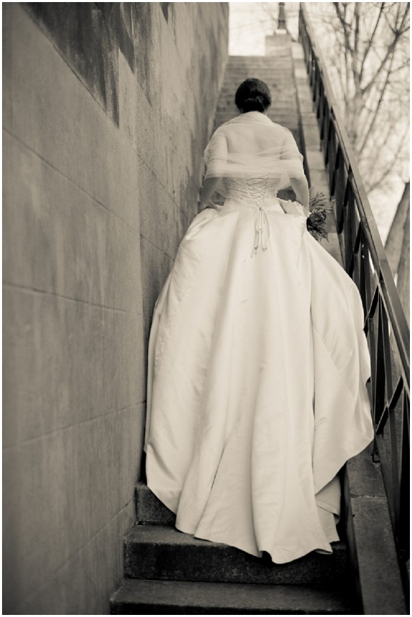 dramatic bridal potography