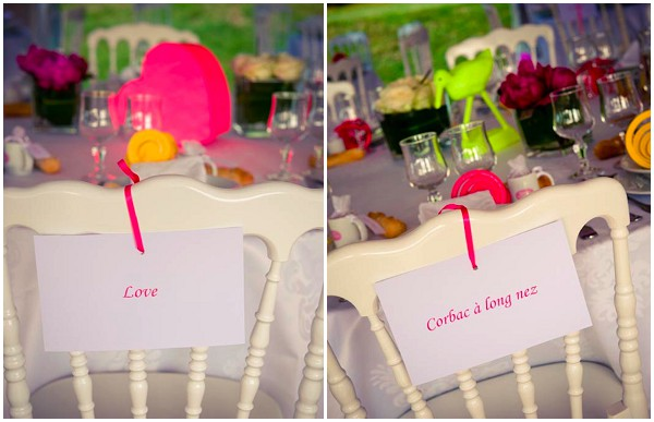 pink yellow wedding decorations