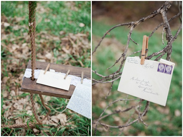 vintage love letters as wedding props