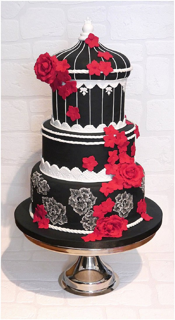 2014 wedding cake trends bold