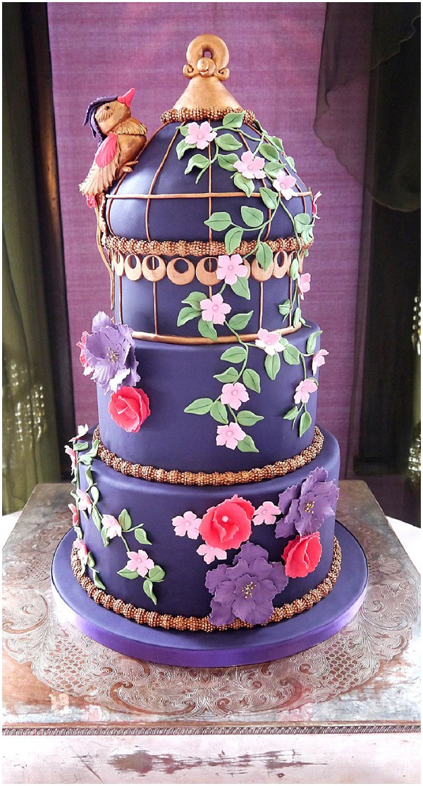 2014 wedding cake trends purple