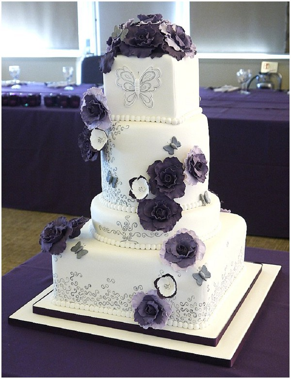 2014 wedding cake trends radiant-orchid