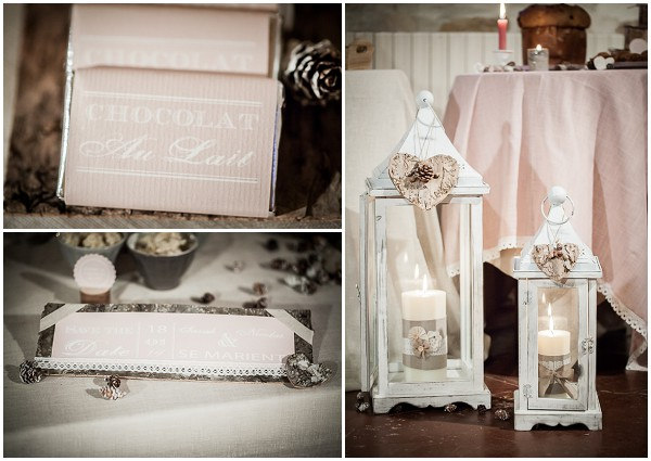 baby pink wedding decor