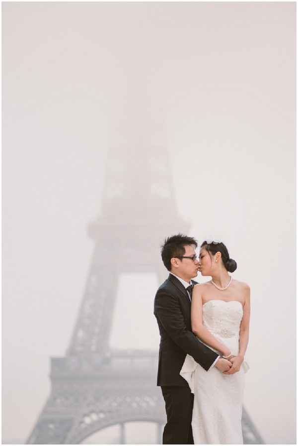 love the eiffel tower in mist
