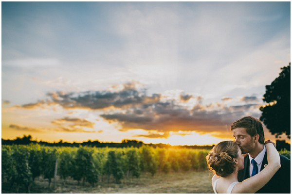 dramatic sunset wedding