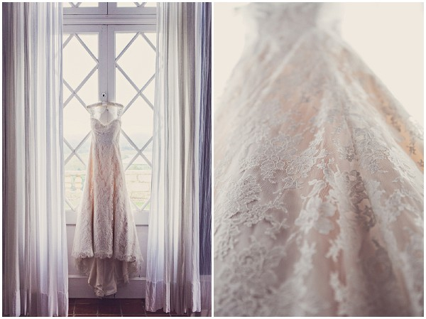 french lace wedding dress