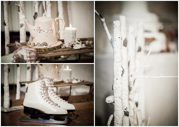 ice skates wedding