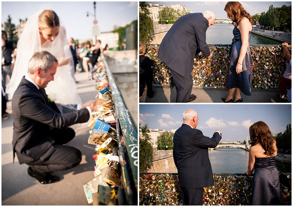 love lock bride paris