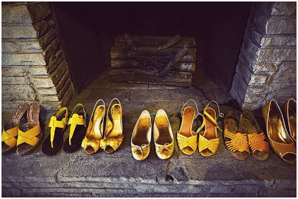 mustard wedding shoes