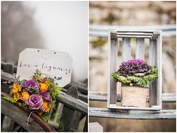 ornamental cabbages wedding