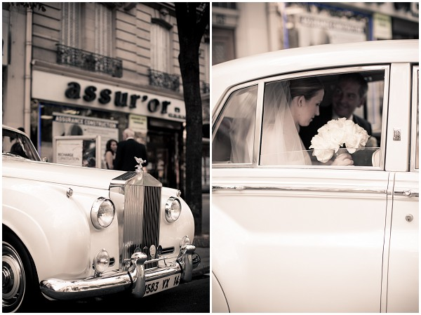paris wedding car