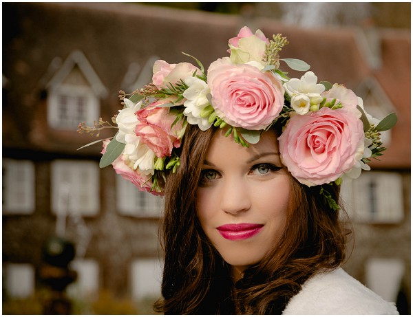 pink rose headdress