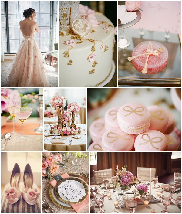 Wedding Theme Ideas: Vintage Pink And Gold Wedding Ideas