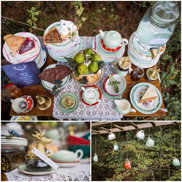 tea bar wedding