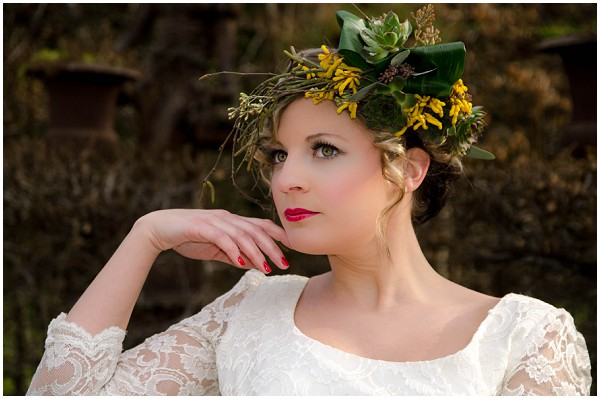 yellow floral headdress