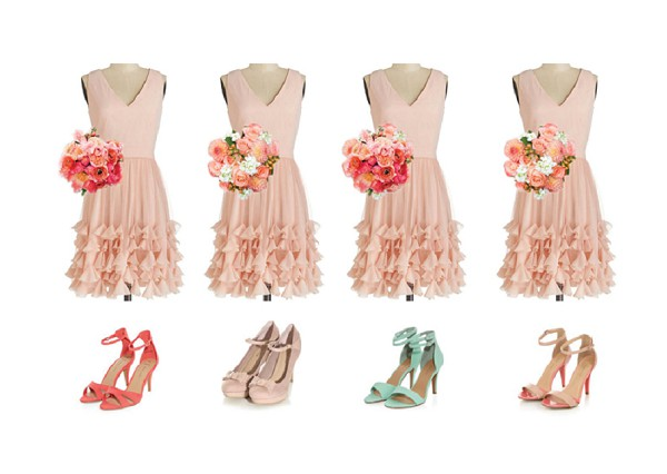 soft peach bridesmaid dresses