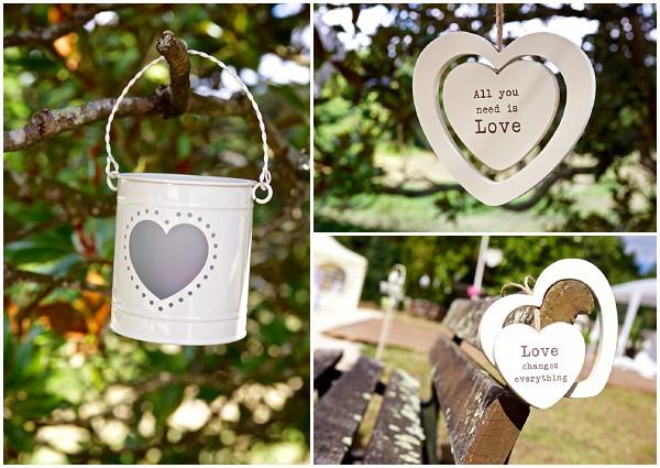 heart themed wedding decorations