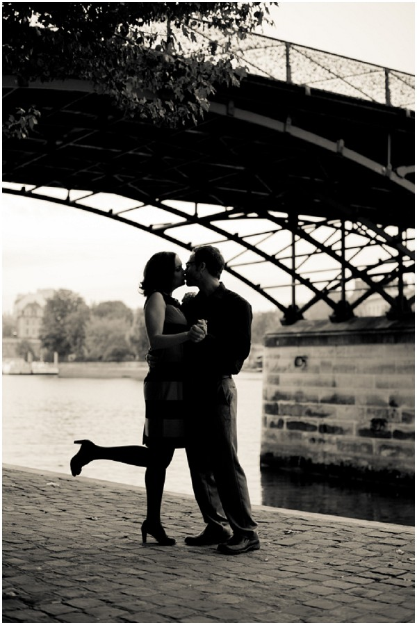 Dancing under bridge in Paris