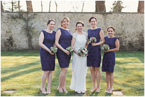 radiant orchid bridesmaids
