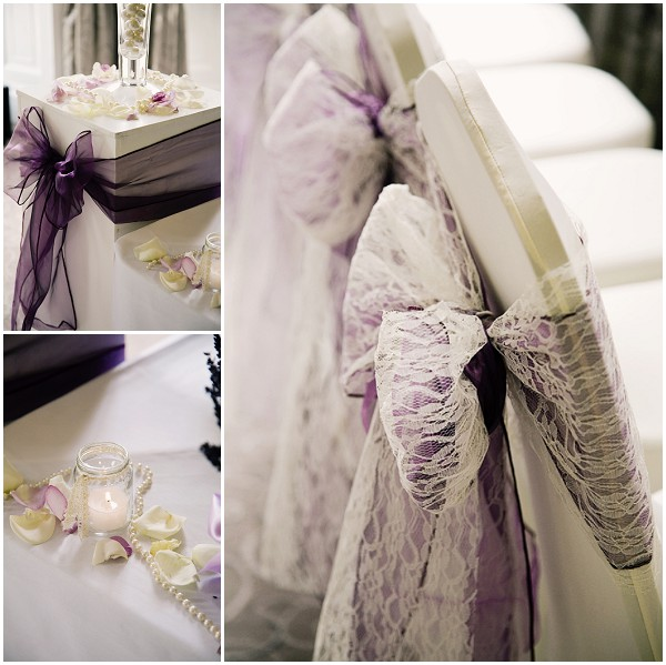 radiant orchid wedding decorations
