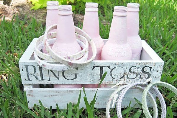 Ring Toss With Pink Bottles