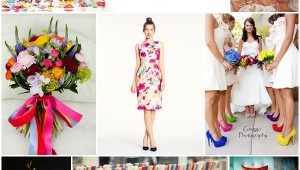 splash of colour wedding ideas