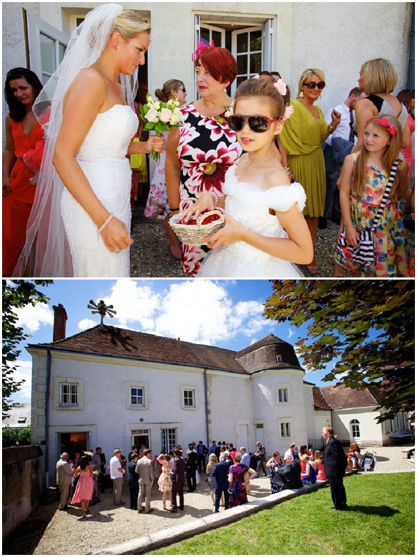 wedding in sunshine with chic little bridesmaid