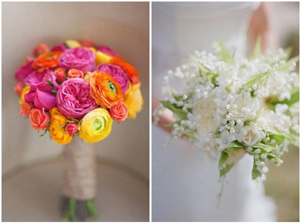 2-ranunculus & lily of the valley