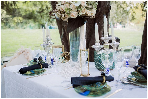 back to nature wedding table