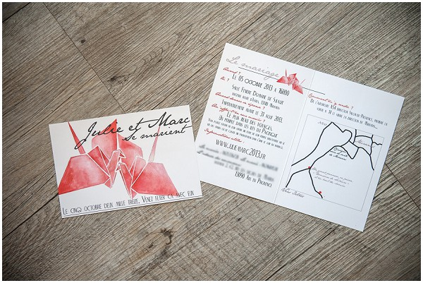 red hand drawn invitations