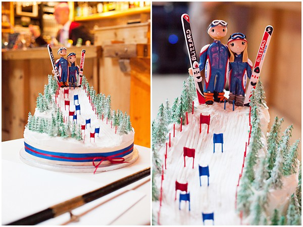 skiing wedding Cake