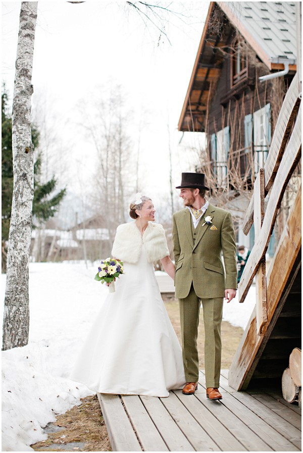 snow wedding France