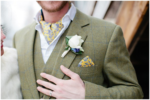 tweed groom buttonhole