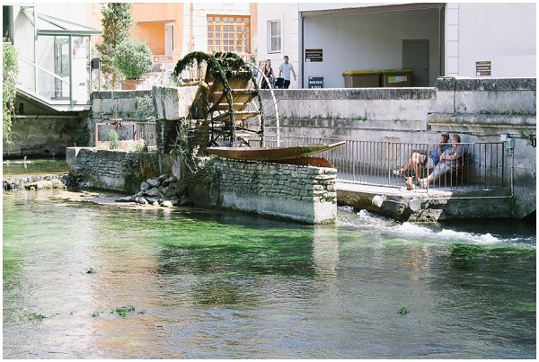 water wheel in provence