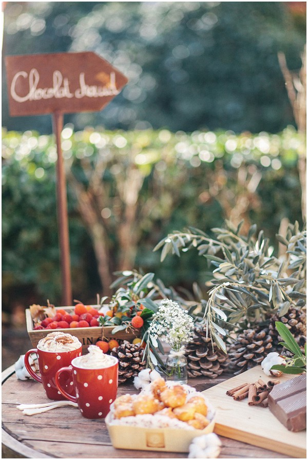 wedding hot chocolate stand